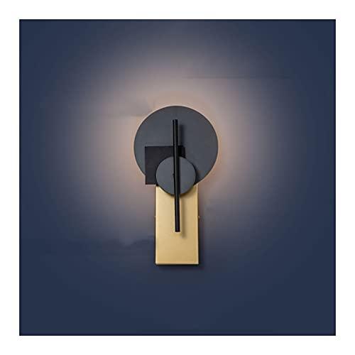 A-ZHP Lámpara de Pared, luz cálida Moderna y Simple Personalidad Sala de Estar TV Fondo de Pared Lámpara de Pared de Noche