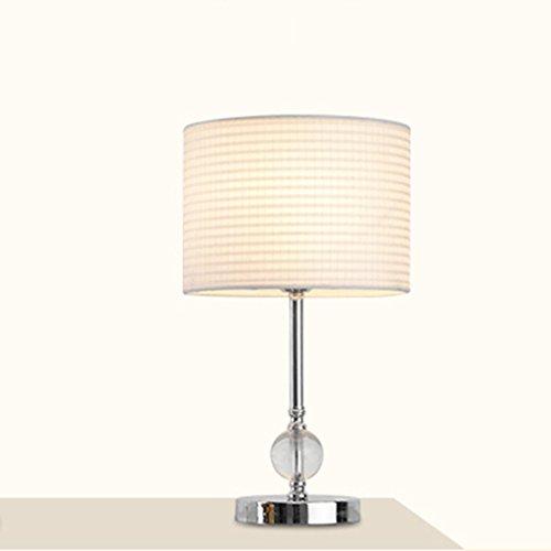 Lampe de table en cristal moderne simple avec la base en métal à la lecture pour l'économie d'énergie de chambre à coucher de salon (style : A)