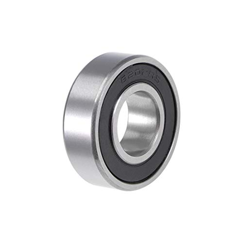 uxcell 6202-2RS Deep Groove Ball Bearing 15x35x11mm Double Sealed ABEC-3 Bearings 1-Pack