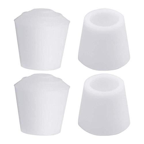 4 piezas tapas de piernas puntas 12 mm 1/2 pulgadas antideslizante muebles de goma cubierta de pies de mesa protector de suelo reducir el ruido evitar arañazos blanco