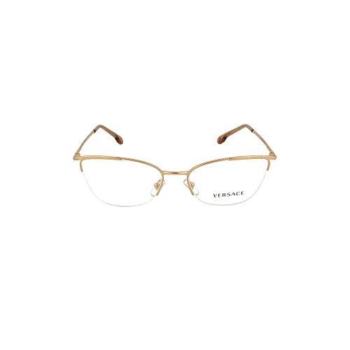 Versace 0VE1261B Monturas de gafas, Rose Gold, 54 para Mujer