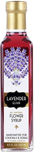 Floral Elixir Co. Lavender Elixir - All Natural Syrup for Cocktails & Sodas, 8.5oz