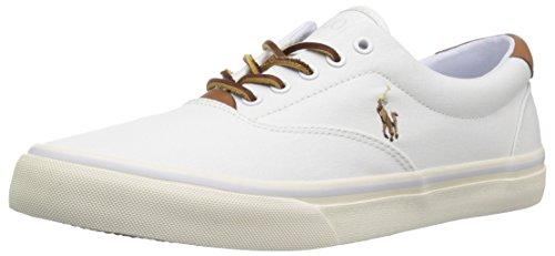 Polo Ralph Lauren mens Thorton Sneaker, White, 10.5 US