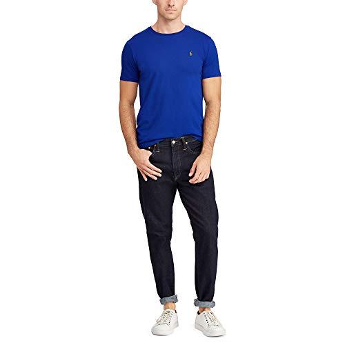 Ralph Lauren T-Shirt Basic da Uomo Custom Slim Fit (XXL, Sax Blue)