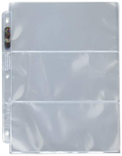 Ultra Pro 3-Pocket Platinum Page with 3-1/2″ X 7-1/2″ Pockets 100 ct.