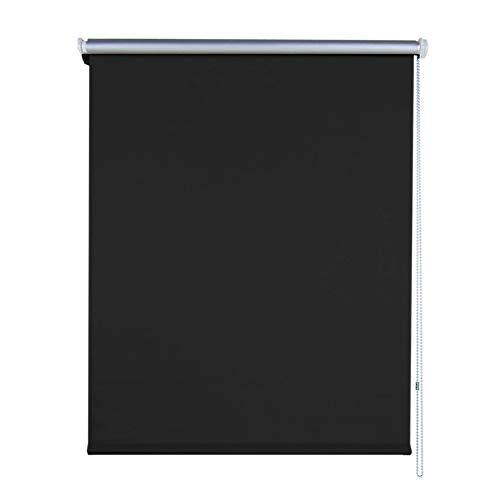Aufun Verdunkelungsrollo Thermorollo Seitenzugrollo Seitenzug Klemmrollo ohne Bohren Klemmfix (90 x 160 cm, Anthrazit)