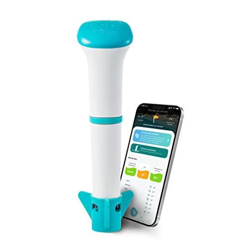 Analyseur d'eau - Sonde connectée Piscine et Spa - iopool - EcO Start- Pack Comprenant sonde, Produits d'entretien et Application