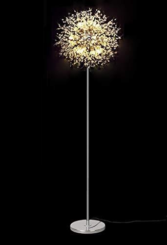 Surpars House Sputnik Chandelier Floor Lamp, Fireworks Silver Floor Lamp for Bedroom,Living Room or Girls Room