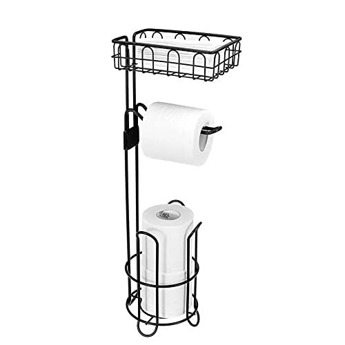 Equipo para el hogar Soporte para rollo de papel Papel higiénico Soporte para almacenamiento de toallas Soporte organizador Estante para baño Soporte de rollo vertical para inodoro Soporte para rol