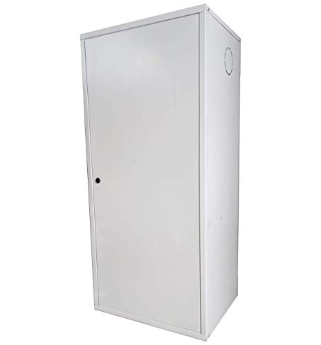 Copricaldaia coibentato da esterno preverniciato bianco con Kit montaggio e pellicola protettiva (120 x 65 x 43)