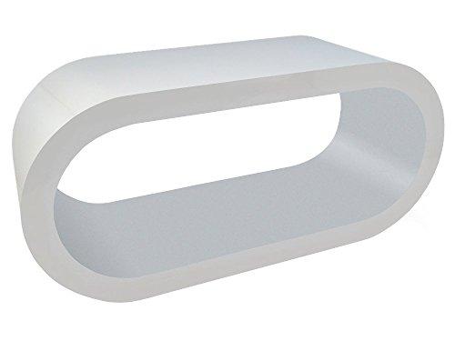 Zespoke Design Bianco Lucido e Opaco Grigio caffè Cerchio Supporto da Tavolo/TV in Vari Formati
