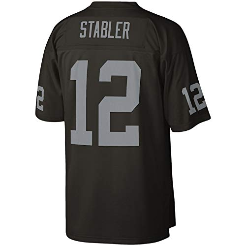 THDB camiseta de rugby de fútbol americano personalizado Ken Las Vegas NO.12 Raiders Stabler Mitchell & Ness Legacy Replica Jersey transpirable sudadera para hombres - negro