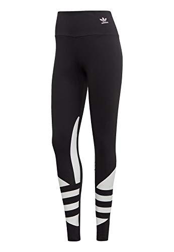 adidas Damen Large Logo Tights, Black/White, 40