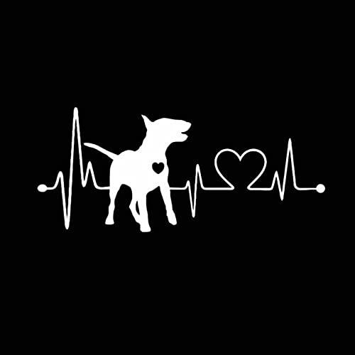 PAOPD Pegatinas de Coche para Adultos, Adolescentes, niños, 18 CM * 7,9 CM Bull Terrier, álbum de Recortes para Ordenador portátil, Bicicleta, Nevera, calcomanías, 3 Piezas