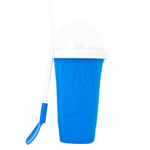 Squeeze Cup Hacer Taza de Sílice de Doble Capa Taza para Pellizcar Taza de Bebidas Heladas Caseras Smoothie Cup Reutilizable Taza de Batidos Congelados Para Batidos Caseros en Verano Squeeze Cup