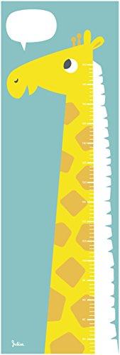 Messlatte Kinderzimmer | Giraffe | Kinder Größe messen | Papier | Super zum Beschriften | Jungen (Blau-Grün)