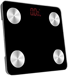 Scale Multipurpose Smart Measurement Body Indicators Bluetooth Weight Scale All Edges Included LED Body Fat Scale (Size : ...