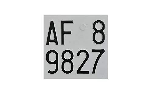 Targa Moto in Alluminio Catarifrangente dal 1985 (Antichizzata)