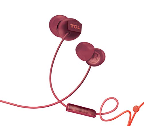 TCL Socl300 in-Ear Earbuds Wired Noise Isolating Headphones with Built-in Mic and Echo Cancellation - Sunset Orange