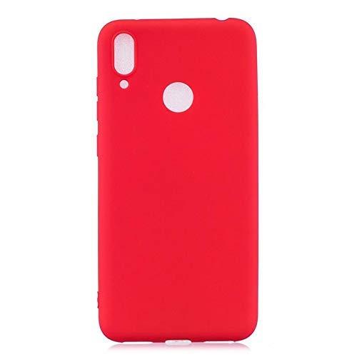 CoverKingz Handyhülle für Huawei Y7 (2019) - Silikon Handy Hülle Huawei Y7 - Soft Hülle in matt Rot