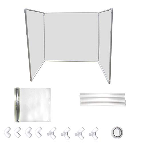 Sneeze Guard Panel for Desk, Counter and Table, Portable Plexiglass Barrier, Next-Day Shipping,Clear Acrylic Shield,DIY Desk Partition Baffle Screen Anti-Spray Transparent Isolation Board Protect