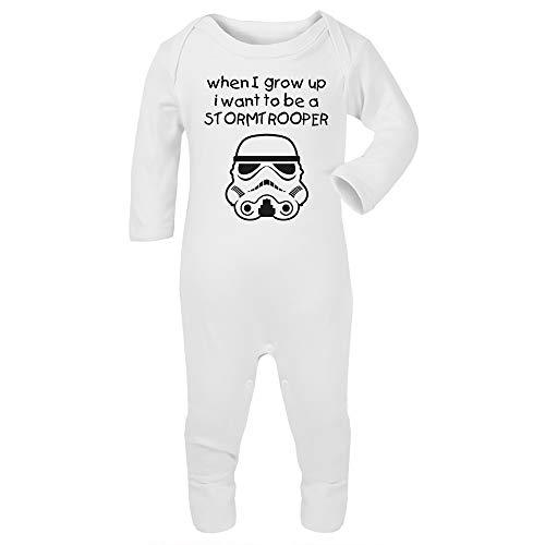 Originele Stormtrooper Als ik opgroei, wil ik een Stormtrooper baby en peuter Romper pak zijn
