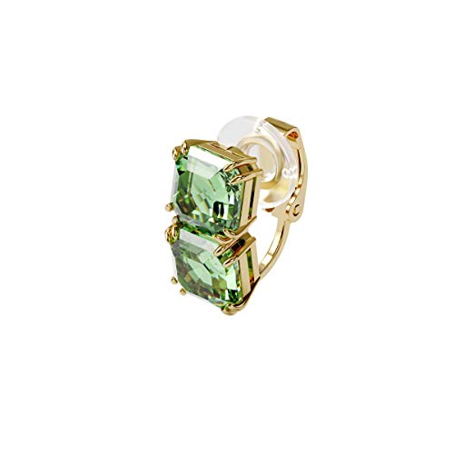 Swarovski Pendientes Ear Cuff Millenia, Individual, Suelto, Verde, Baño tono oro