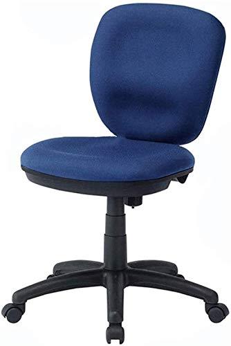 YONGYONGCHONG Silla de oficina, silla de oficina, silla giratoria de malla, respaldo pequeño, silla de ordenador, patas de nailon, para el hogar, empresa, silla de mostrador (color: azul)