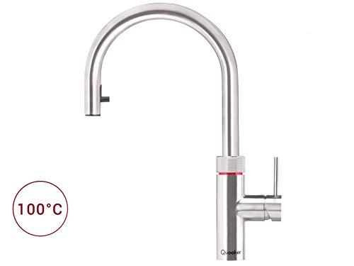 Quooker Flex COMBI+ 2.2 Kochendwasserhahn/Kochendwasser-Armatur & Mischbatterie/ausziehbarer Auslauf/Edelstahl (RVS)