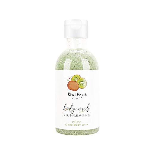 260ml Basisches Duschgel - Fruchtiges Duschgel, Fruchtdüfte Frosted Shower Gel Body Wash Für trockene Haut tiefe Feuchtigkeit, Creme Soft Pflegedusche (#B Kiwi Fruit)
