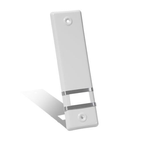 JAROLIFT Design Aluminium Abdeckplatte für Gurtwickler/Lochabstand: 160 mm/Farbe: weiß