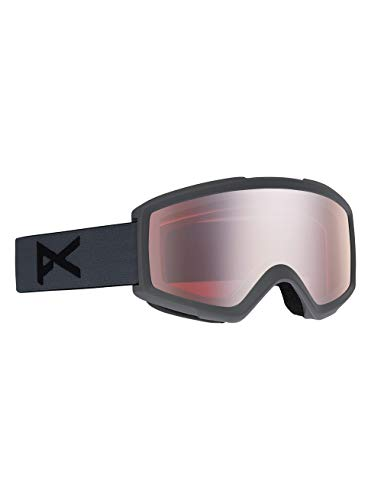 Anon Helix 2.0 Masque de Snowboard Homme, Stealth/Silver Amber, Taille Unique