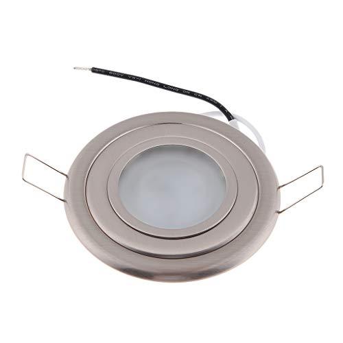 P Prettyia 3.5'12 V 2.5 W Llevó La Luz Empotrada en El Techo Luz de La Lámpara Foco Proyector 6000k