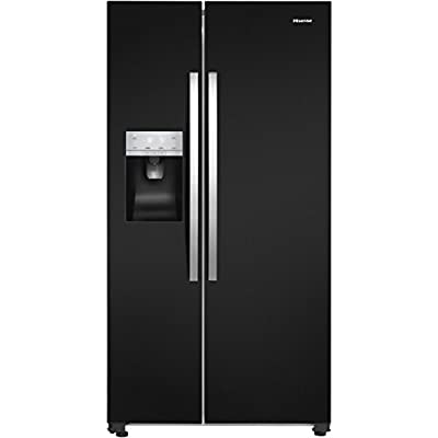Hisense RS696N4IB1 Side By Side American Frost Free Fridge Freezer With Ice and Water Dispenser Black
