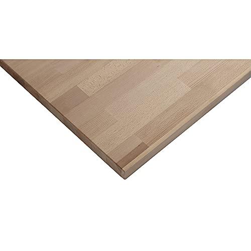 ANKE Arbeitsplatte für Werkbank Rotbuchenplatte massiv Breite 1270 mm, Stärke 40 mm