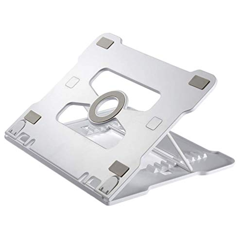 Enfriamiento del ordenador portátil soporte de aleación de aluminio Notebook Soporte ajustable en altura estante de enfriamiento for el juego del ordenador portátil (Panel de aleación de aluminio de 1