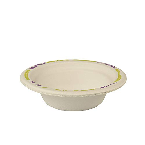 Papstar 12125 50 schalen, houtgeslepen rond 200 ml diameter 14 cm, 4 cm, duett, wit