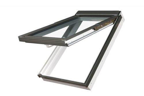 134 x 140 - FAKRO FPP - Klapp/Schwingfenster Holz FPP-V U3 mit Dauerlüftung und EDR für Dachziegel