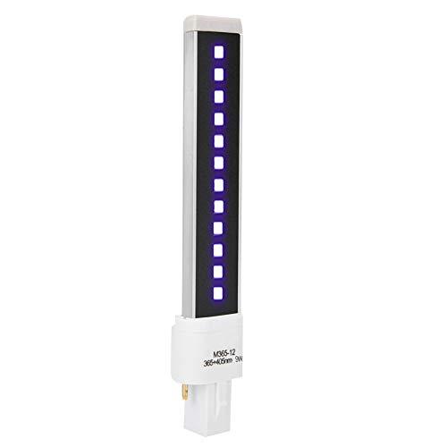Weikeya Tubo de lámpara de secador de uñas Duradera, aleación de Aluminio 12pcs Hecho 16.3 * 3 * 2 cm 9W