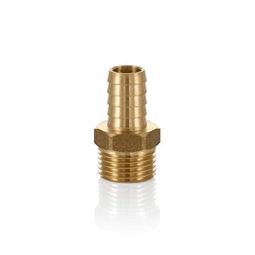 Conector de manguera sólido de latón - Acople de espiga a BSP - Adaptador de rosca