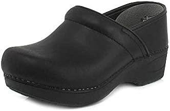 Dansko Women's XP 2.0 Black Waterproof Pull-up Leather Clogs 6.5-7 M US