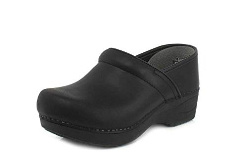 Dansko Women's XP 2.0 Black Waterproof Pull-up Leather Clogs 8.5-9 M US