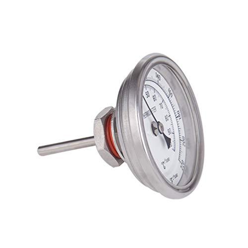Hemoton Grill Holzkohle Thermometer Kein Schweißgrill Raucher Metall Temperaturanzeige Grill Fahrenheit Thermometer für Bier Fleisch Rindfleisch Lamm