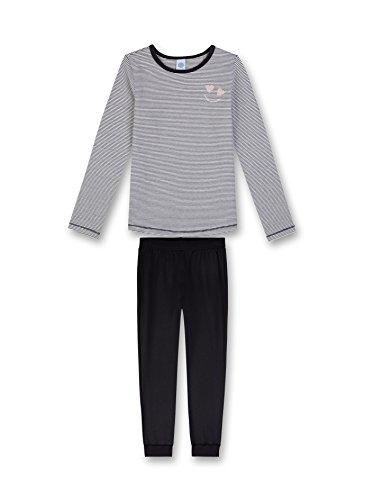 Sanetta Mädchen Pyjama Long Striped Zweiteiliger Schlafanzug, Grün (Phantom 5169.0), 140