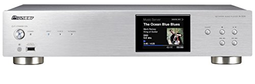 Pioneer N-50A-S Pure Audio Netzwerk-Player (AirPlay, DLNA, Spotify Connect, Internetradio, Aluminium Front, vergoldete Anschluss) silber