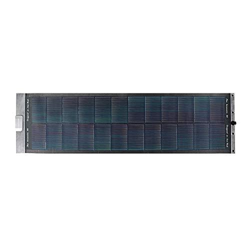 XiangXin Klappbares Solarladegerät, Monokristallines Silizium-Solarladegerät für den Außenbereich, Umweltschutz PS Firm Langlebig zum Wandern Reisen Klettern Angeln Camping(Black)