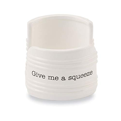 Mud Pie Give Me A Squeeze Sponge Caddy, 3' x 3', White