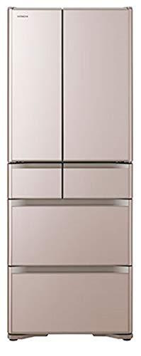 日立 冷蔵庫555 L 6ドア フレンチドア 日本製 幅68.5cm 奥行73.8cm スポット冷蔵 真空チルド クリスタルシャンパン R-XG56J XN