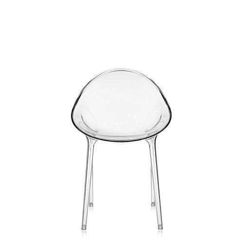 Kartell Mr. Impossible Chair by Philippe Starck with Eugeni Quitllet, Pack of 1, Transparent Crystal