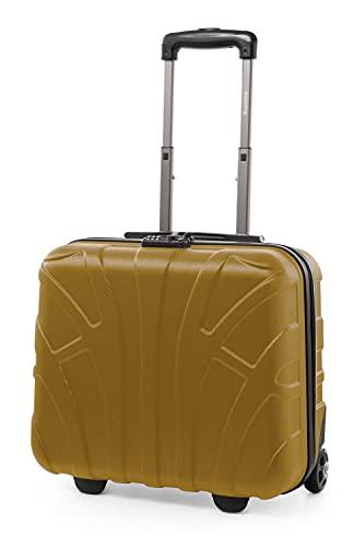 SUITLINE - Maleta piloto, Equipaje de Mano, Business Trolley, Rígida, TSA, ABS, 2 Ruedas, Oro de otoño